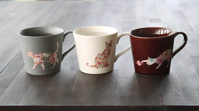 Color and Design Change Cat Mugs (3 Pieces)