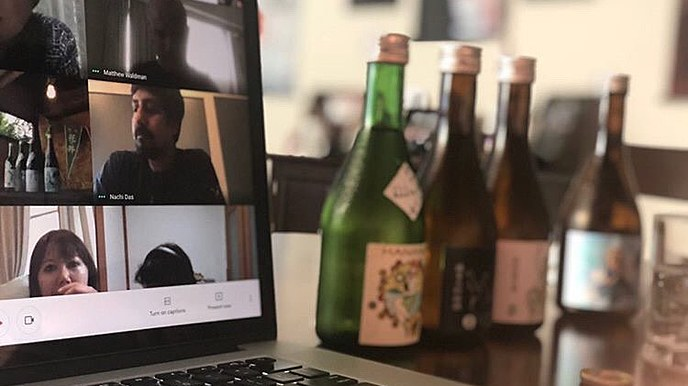Online Tour (with Sake) and Tasting