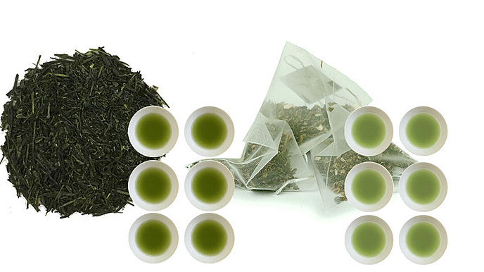 6 Months of Organic Gyokuro Premium - Loose Leaf - 500g + Kagoshima Sencha Green Tea Bags - Hot or Cold Brewing - 200 teabags (Regular Price US$1140)